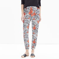 Madewell Shorewalk Cover Up Pants In Vintage Palm