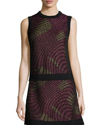 M Missoni Metallic Web Sleeveless Top