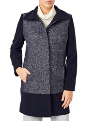 Jacques Vert Textured Block Coat Navy