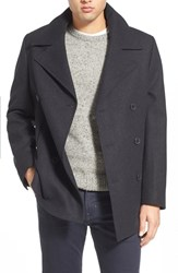 Men's Nordstrom Wool Blend Double Breasted Peacoat