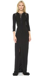 Antonio Berardi Fringe Dress Black