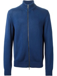 Etro Zipped Cardigan Blue