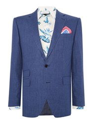 New And Lingwood Burdoch Sb2 Notch Lapel Suit Jacket Blue