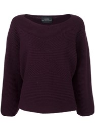 Loma 'Christy' Bell Sleeve Jumper Pink Purple