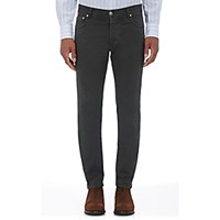 Isaia Men's Slim Fit Jeans Green