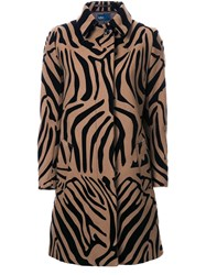 Kolor Animal Print Coat Brown