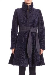 The Fur Salon Shearling Belted Coat