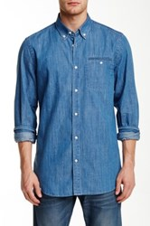 Wesc Saymon Long Sleeve Relaxed Fit Shirt Blue