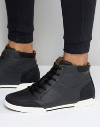 Aldo Bonica Hi Top Trainers In Black Black