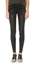 R 13 Leather Chaps Jeans Black