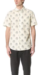 Obey Mulholland Short Sleeve Shirt Cream Multi