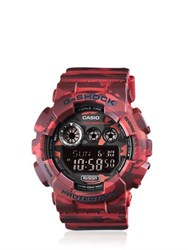 G Shock Absolute Red Camouflage Digital Watch