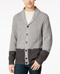 Calvin Klein Jeans Colorblock Cardigan Charcoal Heather