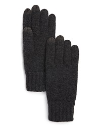The Men's Store At Bloomingdale's Knitted Tech Gloves Grey