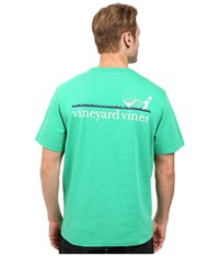 Vineyard Vines Golf Line Graphic T Shirt Putting Green Men's T Shirt Blue