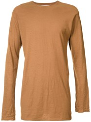The Squad Long Length Long Sleeve Top Brown
