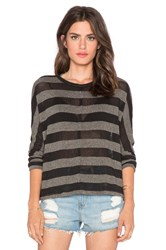 Stateside Stripe Sweater Charcoal