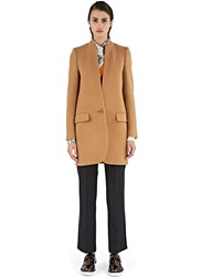 Stella Mccartney Bryce Single Breasted Coat Beige