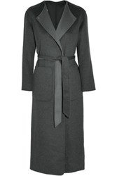 Iris And Ink Esmeralda Reversible Belted Cashmere Coat Gray