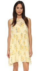 The Great. The Sunday Dress Yellow Floral