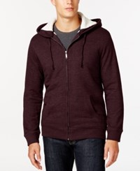 Club Room Sherpa Lined Fleece Hoodie Only At Macy's Marooned