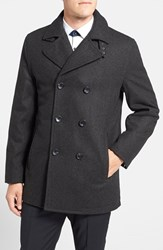 Men's Michael Kors Wool Blend Double Breasted Peacoat Loden Green