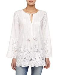 Calypso St. Barth Grian Long Sleeve Peasant Tunic