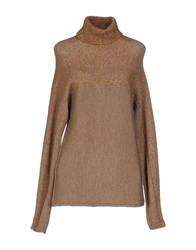 Stefanel Turtlenecks Camel