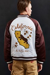 Urban Outfitters Uo Embroidered California Souvenir Jacket Maroon