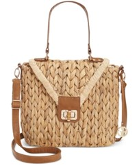 Giani Bernini Braided Straw Top Handle Crossbody Only At Macy's