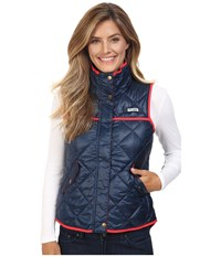 Columbia Harborside Diamond Quilted Vest Collegiate Navy Red Camellia Women's Vest