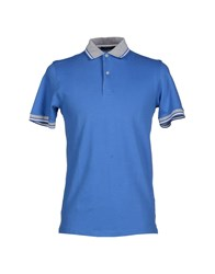 Gran Sasso Topwear Polo Shirts Men Pastel Blue