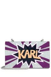 Karl Lagerfeld Glitter Box Clutch Multicolor