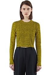 Pre Ss16 Proenza Schouler Cropped Mouline Sweater Yellow