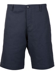 Carven Textured Chino Shorts Blue