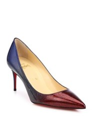 Christian Louboutin Decollete Ombre Glitter Leather Point Toe Pumps Multi
