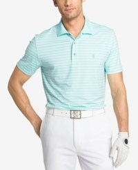Izod Men's Fairway Striped Polo Aqua Splash