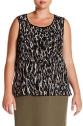 Kasper Whisper Printed Tank Plus Size Multi