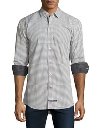 English Laundry Mini Diamond Sport Shirt Gray Navy