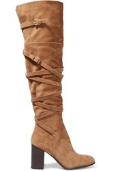 Sam Edelman Sable Suede Over The Knee Boots Tan