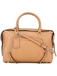 Dkny Zip Pocket Tote Nude Neutrals