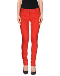 Silvian Heach Denim Denim Trousers Women Red