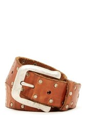 John Varvatos Studded And Distressed Belt Brown
