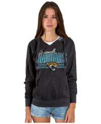Authentic Nfl Apparel Women's Jacksonville Jaguars Holiday Logo Hoodie Heather Charcoal