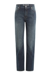 Mcq By Alexander Mcqueen Cropped Straight Leg Jeans Blue