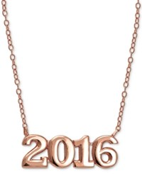 Giani Bernini 2016 Graduation Pendant Necklace In 24K Gold Plated Sterling Silver And 24K Gold Plated Rose Gold
