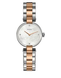Rado Coupole Classic Diamonds And Two Toned Stainless Steel Bracelet Watch