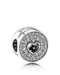 Pandora Design Charm Sterling Silver And Cubic Zirconia Anniversary Moments Collection