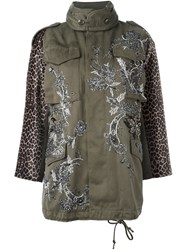 Antonio Marras Short Embellished Parka Green