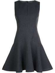 Paule Ka Flared Short Dress Grey